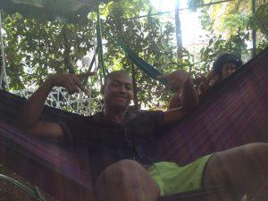 Humberto is a regular in the Cuba Libro hammocks