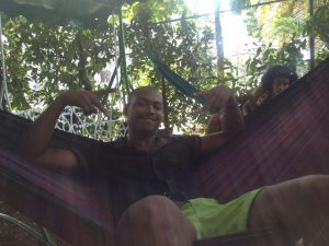 Humberto is a regular in the Cuba Libro hammocks